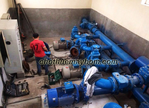 Cho thuê máy bơm công suất lớn giá rẻ nhất tại Hà Nội